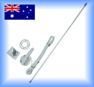 NEW AXIS Marine / Caravan / 27mhz CB Radio Antenna White Nylon Cable