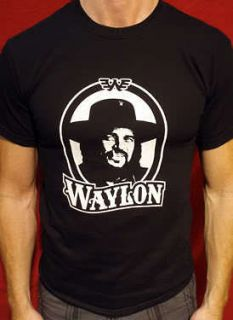 Waylon Jennings t shirt vintage style short/long sleeve Tall mens
