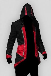 Assassins Creed 3 III Conner Kenway Hoodie/Coat Jacket Cosplay Costume