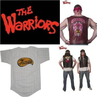 Adult Mens The Warriors Movie Vest Halloween Costume