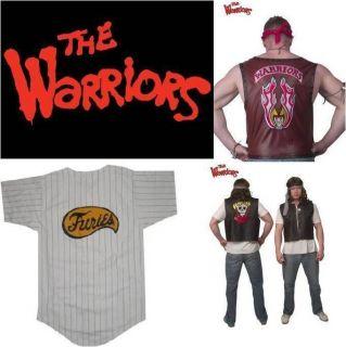 Adult Mens The Warriors Movie Vest Halloween Costume