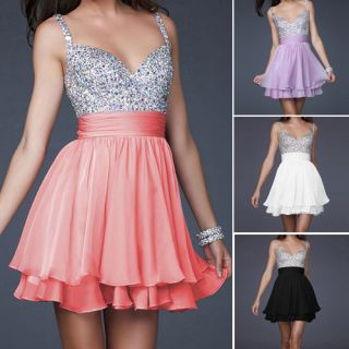 Homecoming Party Evening Bridesmaid Cocktail Dresses Bead Gown Formal
