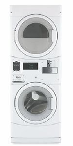CGT8000AQ Commercial Coin Operated Stack Front Load Washer & Gas Dryer