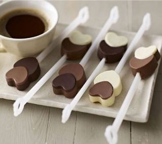 Heart Chocolate Stirrer Silicone Mold & Sticks great with Coffee