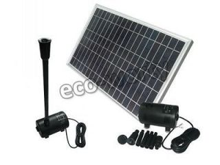 Solar Power brushless water pump with 20w poly solar panel solar pump