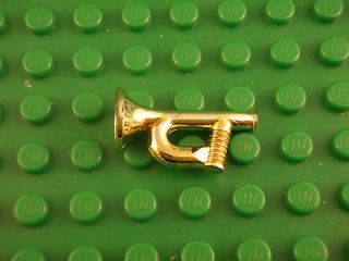 Lego Minifig Gold Horn Trumpet Civil War Cavalry Instrument