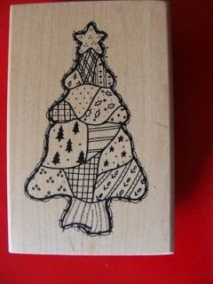 Connors Rubber Stamp  Large Country Christmas Tree NEW