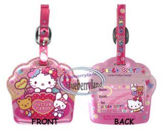 Sanrio Hello Kitty Luggage TAG Travel Bags School BAG Name holder