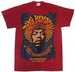 Mens Jimi Hendrix Are You Experienced 5th Dimension Club T Shirt New