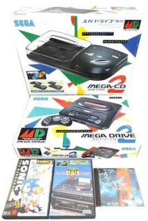SEGA MEGA DRIVE 2 CD CONSOLE SYSTEM+SONIC THE HEDGEHOG+BACKU P RAM