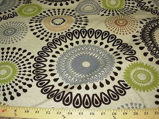 YDS~MODERN CIRCLES SUZANI~CUT VELVET~ON LINEN UPHOLSTERY FABRIC