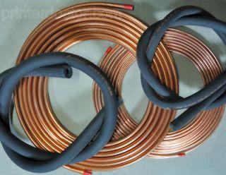 Mini Split Heat Pump copper Line Set + insulation 25 ft