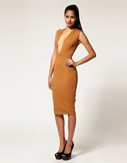 Aqua Couture By Aqua At Asos Medium Vendetta Dress 10 12 Colour Tan