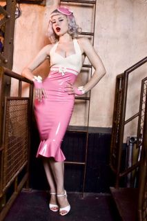 RUBBER LATEX wiggle dress PIN UP COUTURE 50s sailor