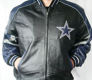 DALLAS COWBOYS VARSITY JACKET LEATHER GIII NFL OFFICIALLY LICENSED NEW