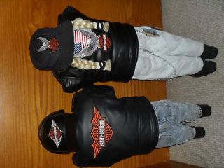 Harley Davidsons Corner Kid Time Out Pout Dolls Boy & Girl