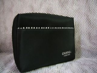 CHANEL Parfums Cosmetic bag makeup bag travel case Clutch Purse Black