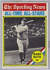 BABE RUTH Sporting News Classic 1936 All Star Game Card Wooden Plaque