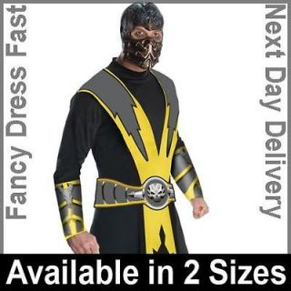Adult Licensed Mortal Kombat Scorpion Fancy Dress Costume Ninja