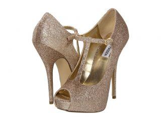 STEVE MADDEN Geaa GOLD Glitter Platform Shoes Dress Pumps Heels T