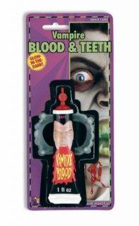 Vampire Makeup Fake Blood Fangs Teeth Costume Halloween