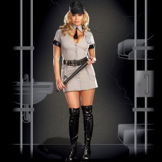 Plus Size Correction Officer Costume OS 1/2X or OS 3/4X