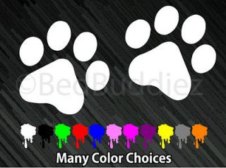 2x Cat Dog Animal Paw Paws Print Feet Vinyl Car Decal Decals Sticker