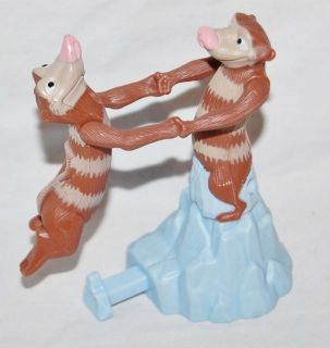 Ice Age Eddie & Crash Dancing Possums Burger King Ice Age Possum Toy