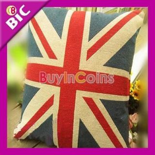 Soft Personalised UK British Flag Tapestry Pillow Cushion Cove