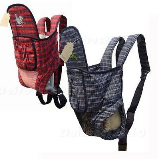 New Front & Back Baby And Kids Carrier Backpack Bag Sling Cotton dte