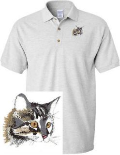 MAINE COON DOG & CAT SHIRT SPORTS GOLF EMBROIDERED EMBROIDERY POLO