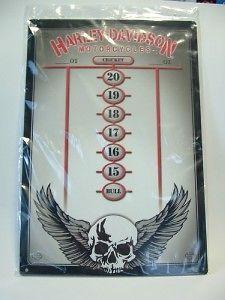 HARLEY DAVIDSON DRY ERASE SCOREBOARD/ o1 cricket darts