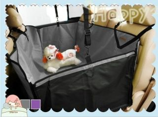 Dog Cat Seat Cover Safety Pet Waterproof Hammock For Car Grey Color