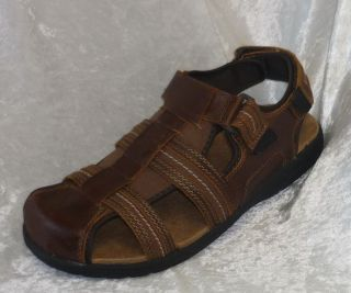 Croft & Barrow Fisherman mens Leather Velcro Sandals size 13 NEW