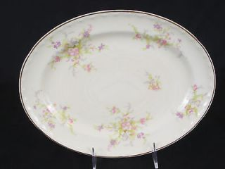 Crooksville China Spring Blossom   11 1/2 Oval Serving Platter (No