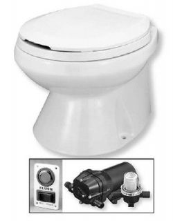 Jabsco 37275 1092 Designer Styled Marine Quiet Flush Electric Toilet