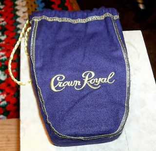 PULPE BAG WITH BOTTLE CROWN ROYAL THE BOTTLE IS EMPTY