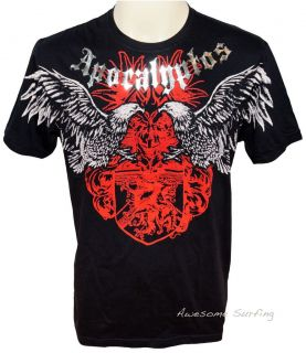 ARTFUL COUTURE EAGLE FIGHTER TATTOO T SHIRT Sz M L HEAVY METAL EXTREME