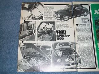 1948 Ford Coupe Vintage Article Star Trek Street Rod Crazy Custom