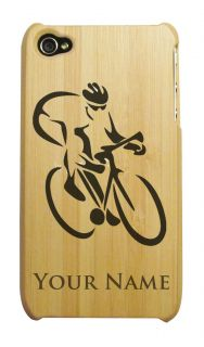 Personalized BAMBOO iPhone 4 4S Case/Cover   CYCLIST  SPORT   BICYCLE