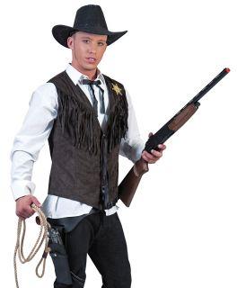 Mens Western Rodeo Cowboy Adult Halloween Costume Vest