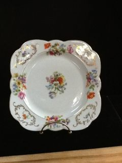 Czechoslovakia Victoria China Square Salad Dish