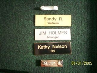 Employee Personalized NAME TAG BADGE 1x3 PIN OR MAGNET Medical Nurse