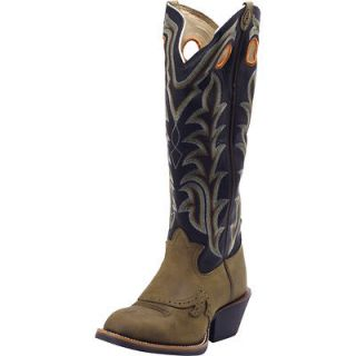 Tony Lama Mens 3R Tan Crazy Horse Cowboy Western Leather Riding Boots