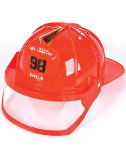 Child or Adult Fire Fighter Captain Costume Hard Hat Toy Helmet