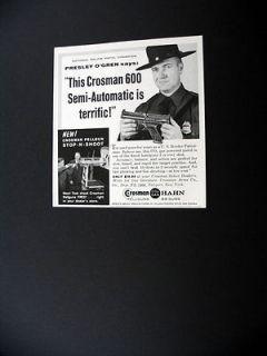 Crosman 600 CO2 Gun Police Pistol Champ 1961 print Ad