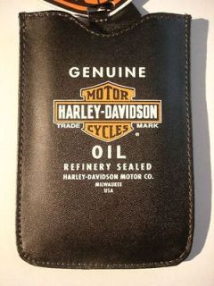 Harley Davidson Motor Cycles Leather smartphone case with Genuine Oil
