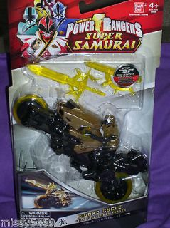Rangers Samurai GOLD LIGHT Sword CYCLE with SUPER Mega Ranger Figure