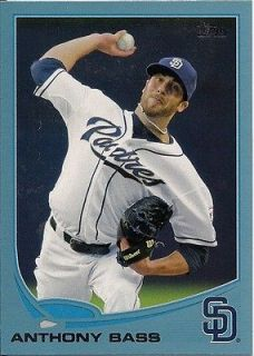 2013 Anthony Bass Padres Topps Wal Mart Blue Border #145