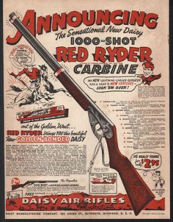 1940 DAISY RED RYDER CARBINE BB GUN AIR RIFLE BOX TARGET REPEATER